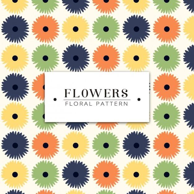 Diseño de patrón floras colorido   Descargar Vectores gratis