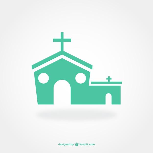 dise u00f1o de pictograma plano de iglesia