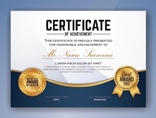 Diseño de plantilla de certificado profesional multiuso para ...