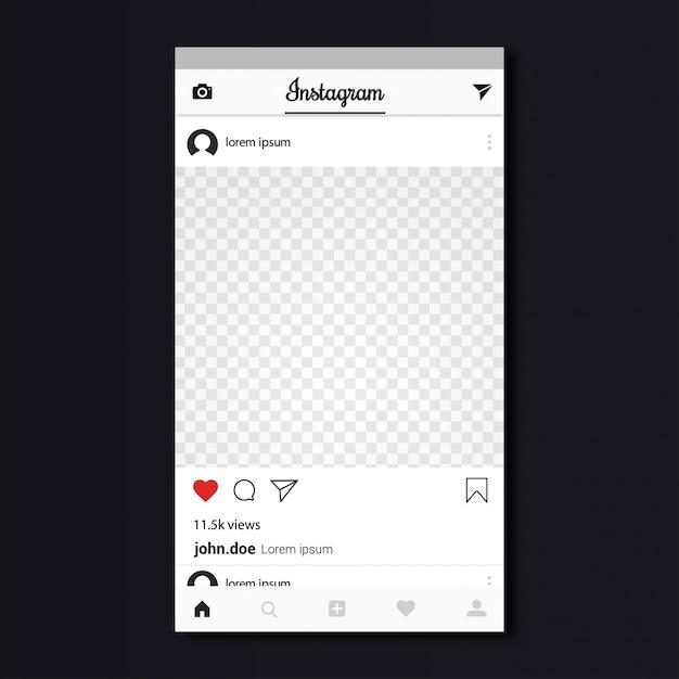 dise u00f1o de plantilla de instagram