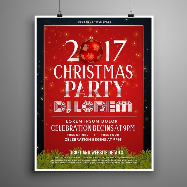 Diseño de plantilla de invitación de celebración de Navidad con ...