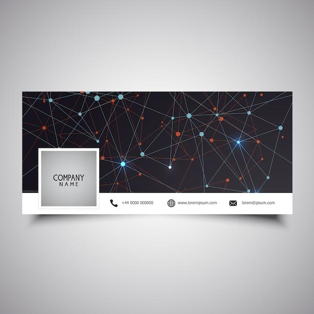 Diseño de portada de línea de tiempo de medios sociales con diseño de baja poli Vector Gratis
