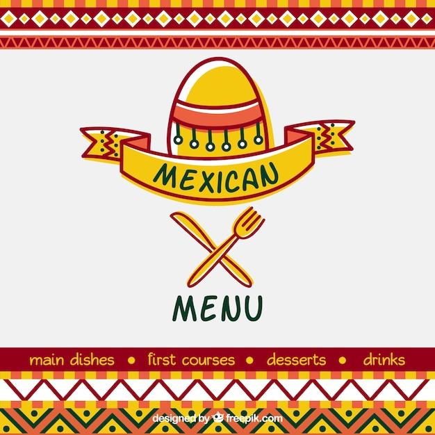 Diseño de portada para menú de restaurante mexicano | Descargar ...