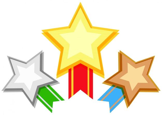 Dise o de premio con estrellas y cinta descargar for Disenos de estrellas