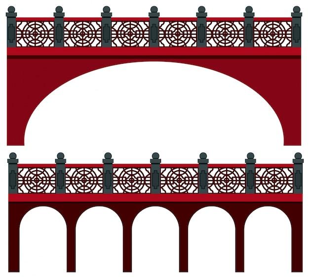 Diseño de puente en estilo chino | Descargar Vectores Premium