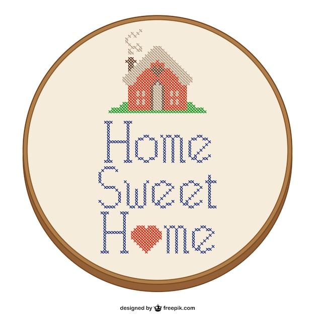 Dise o de punto de cruz de hogar dulce hogar descargar for Diseno de hogar