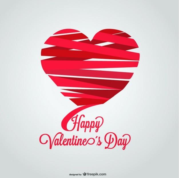 Diseño de tarjeta del día de san valentín con forma de corazón de ...