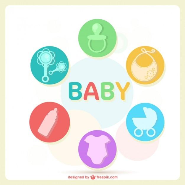 Diseño de tarjeta para bebé | Descargar Vectores gratis