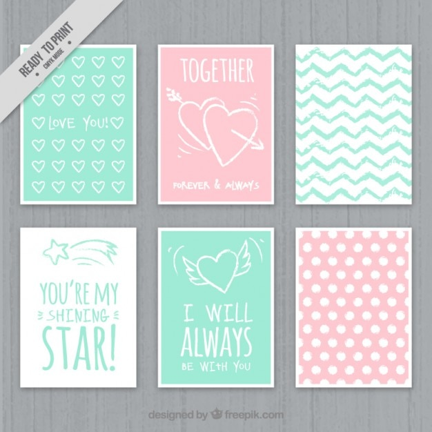 Dise o de tarjetas de amor a color descargar vectores gratis for Disenos para tarjetas