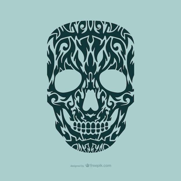 Diseño de tatuaje de calavera   Descargar Vectores gratis