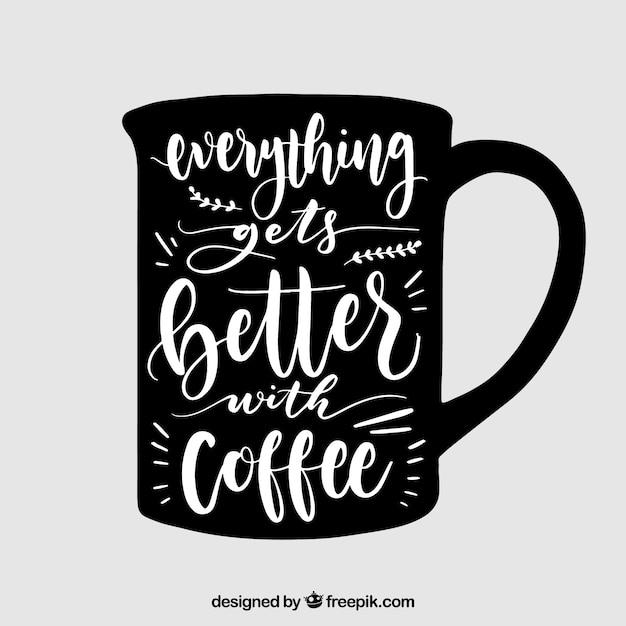 Dise o de taza de caf con lettering descargar vectores for Disenos para cafeterias