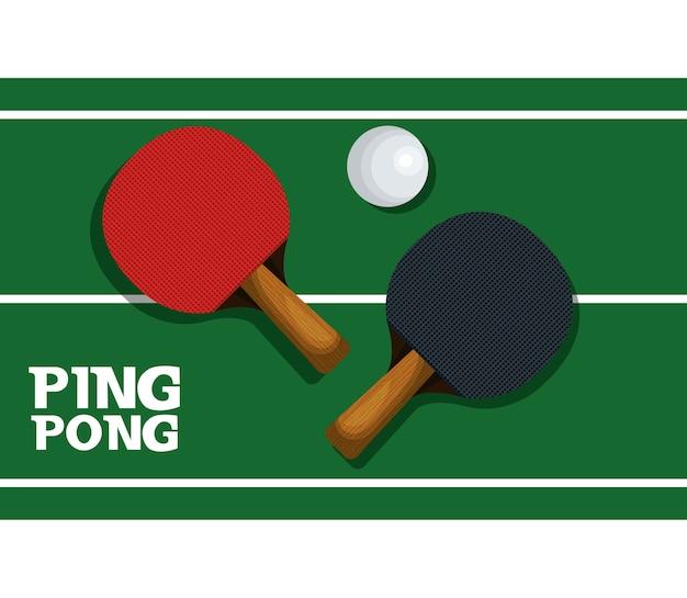 Diseño del ejemplo del vector del deporte del equipo del ping pong ...
