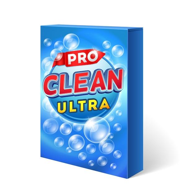 Diseño de detergente en polvo Vector Premium