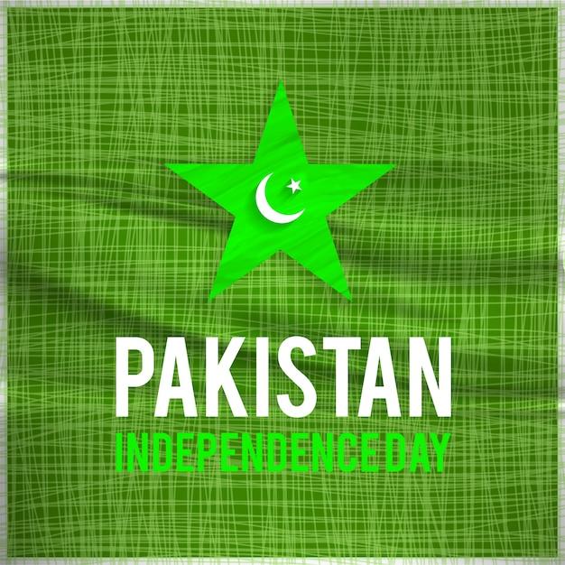 Diseño para el día de la independencia de pakistan vector gratuito
