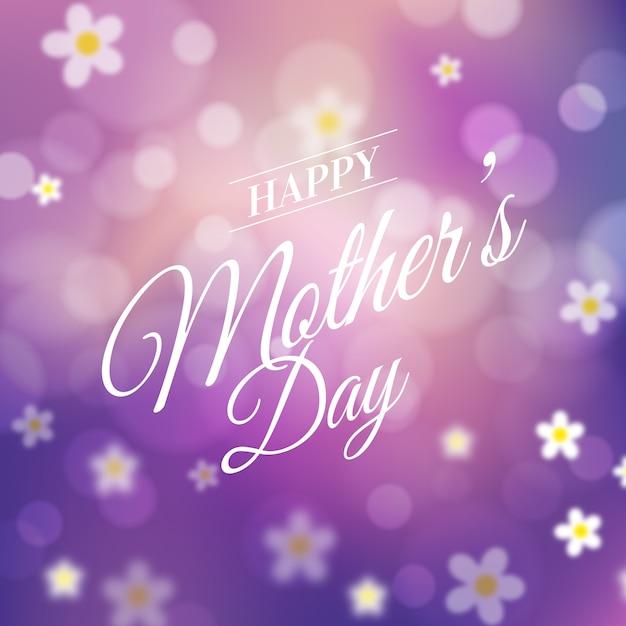 Diseño del día de la madre borrosa vector gratuito
