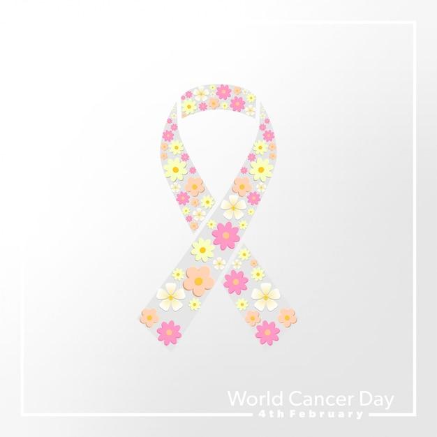 Diseño del día mundial del cáncer Vector Premium