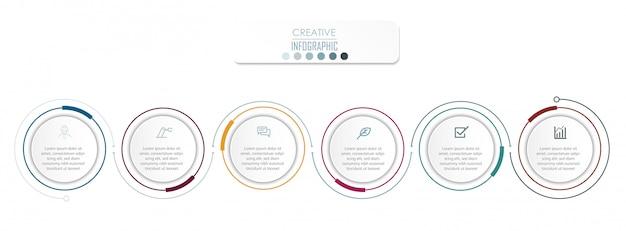 Diseño del diagrama de infografía Vector Premium