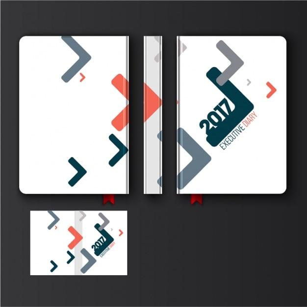 Diseño de diario con formas geométricas abstractas Vector Premium