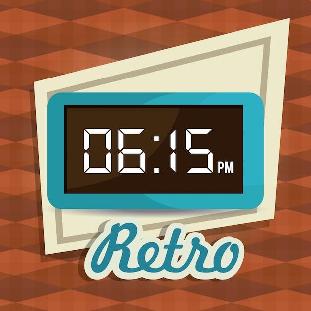 Diseño digital del tiempo. Vector Premium
