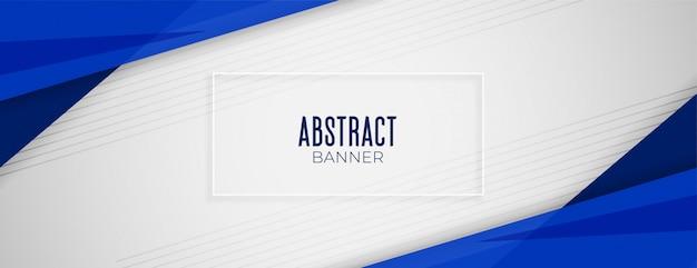 Diseño de diseño de banner de fondo ancho azul geométrico abstracto vector gratuito