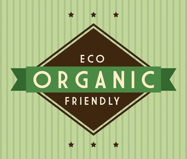 Diseño ecológico sobre fondo verde ilustración vectorial Vector Premium