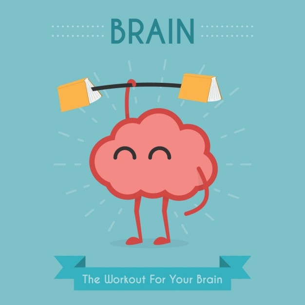 Diseño de ejercicio para el cerebro vector gratuito