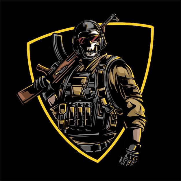 Diseño del ejército Vector Premium