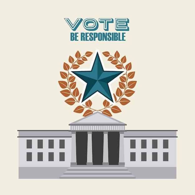 Diseño de elecciones democráticas, ilustración vectorial gráfico eps10 Vector Premium