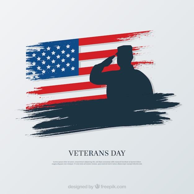 Diseño elegante para el día de los veteranos Vector Premium