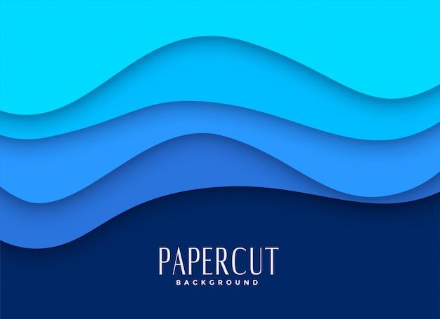 Diseño elegante del fondo del papercut azul vector gratuito
