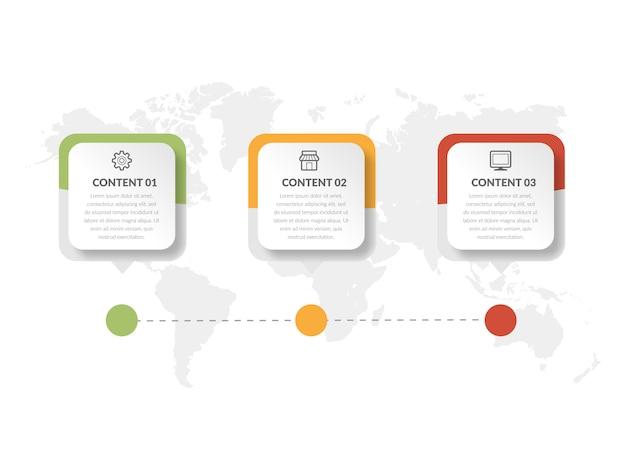 Diseño de elemento de infografía resumen línea de tiempo Vector Premium