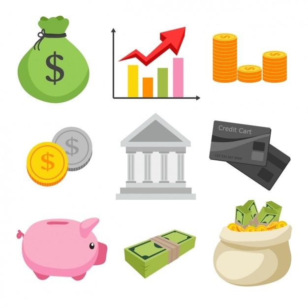 Diseño de elementos de finanzas vector gratuito