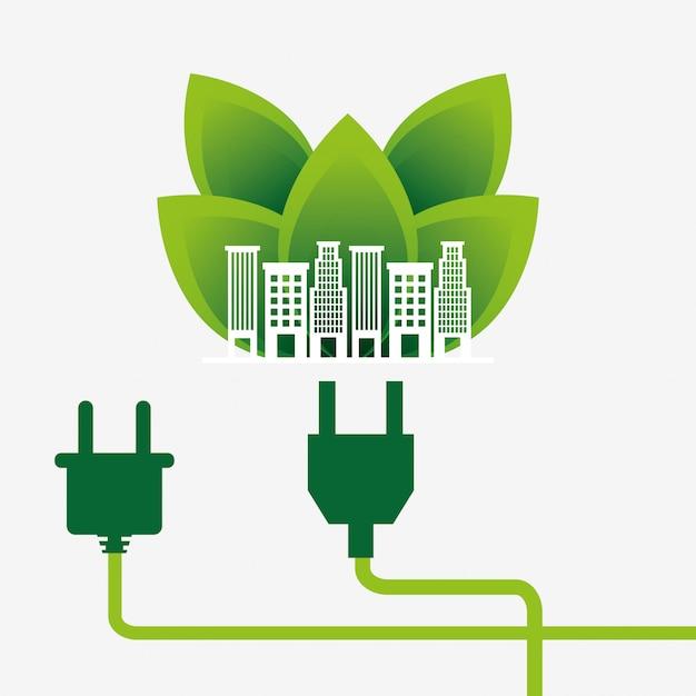 Diseño de energía energética vector gratuito