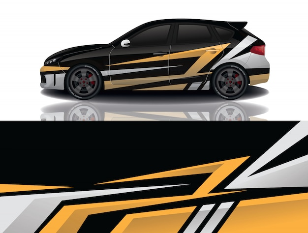 Diseño de envoltura de calcomanía para suv car Vector Premium