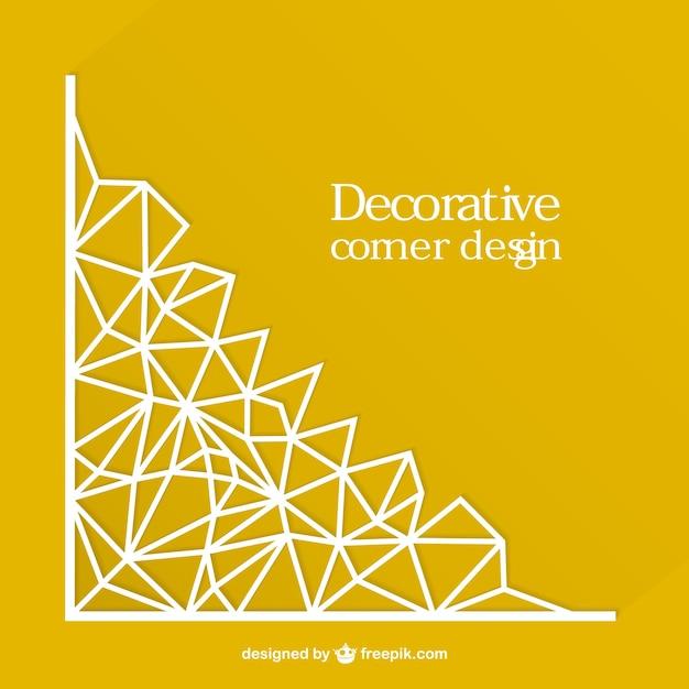 Diseño de esquina decorativa vectorial vector gratuito