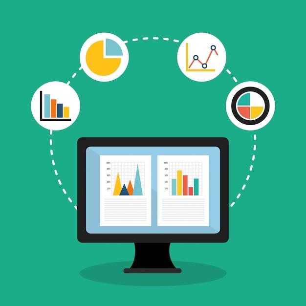 Diseño de estadísticas empresariales. Vector Premium