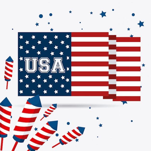 Diseño de estados unidos. vector gratuito