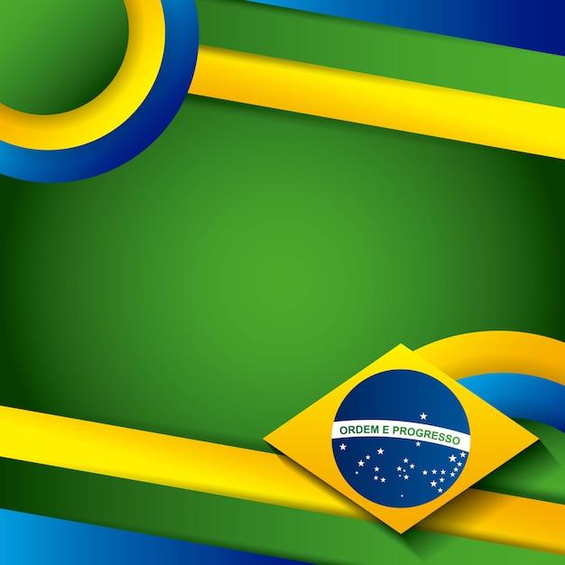 Diseño de estampillas de brasil Vector Premium
