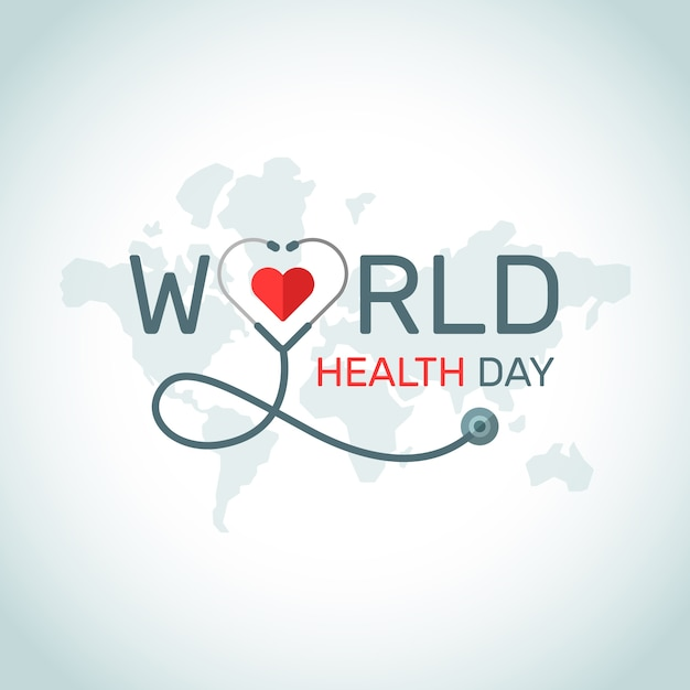 Diseño del evento del día mundial de la salud Vector Premium