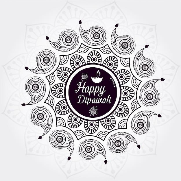 Diseño feliz creativo del fondo del diwali Vector Premium