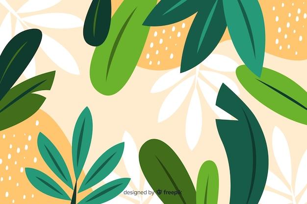 Diseño floral abstracto dibujado a mano vector gratuito