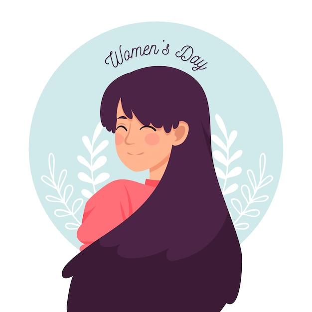 Diseño floral colorido del día de la mujer vector gratuito