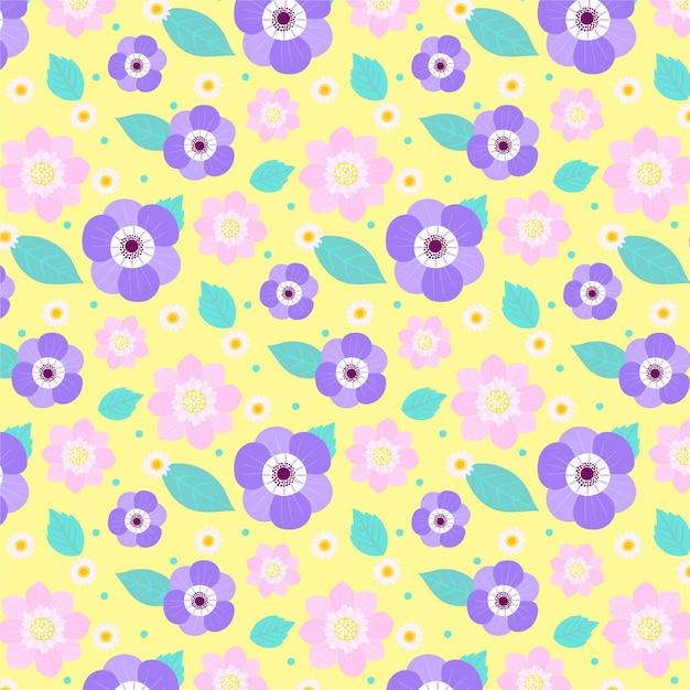Diseño floral colorido vector gratuito