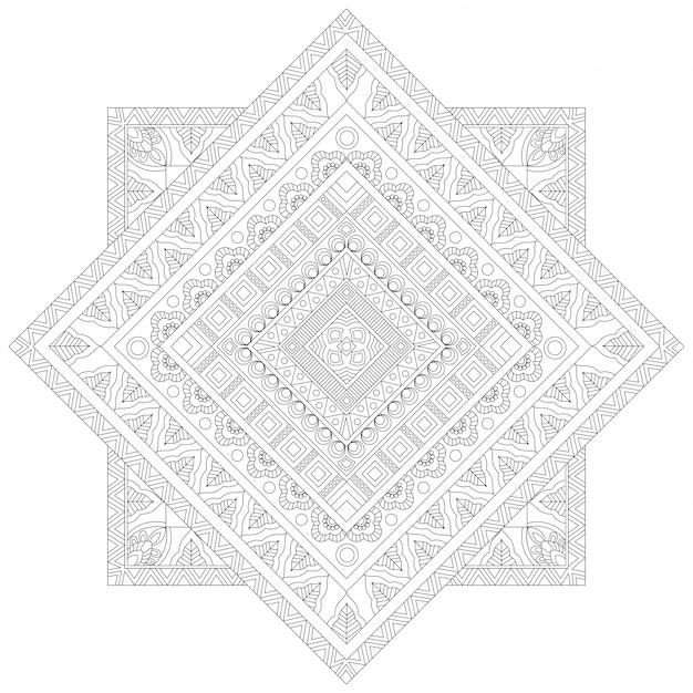 Diseño floral creativo de la mandala, modelo ornamental étnico para ...