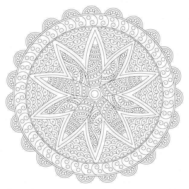 Diseño floral redondeado creativo de la mandala, elemento decorativo ...