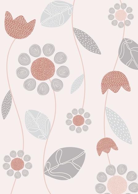 Diseño floral simple vector gratuito