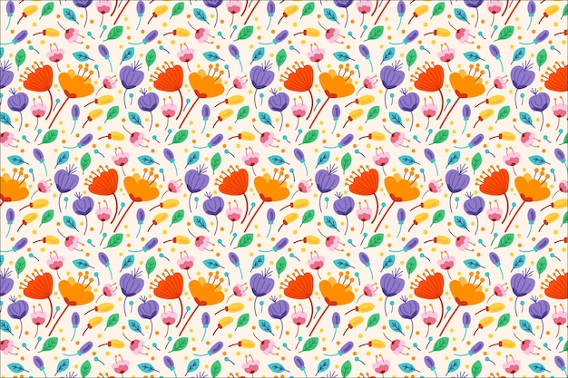 Diseño floral vector gratuito