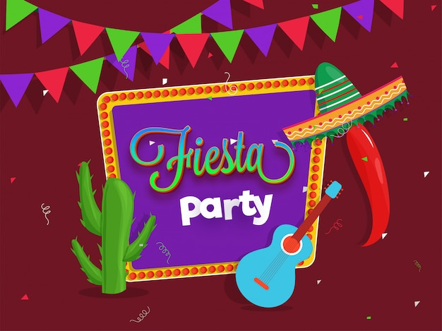 Diseño de flyer creativo fiesta party Vector Premium