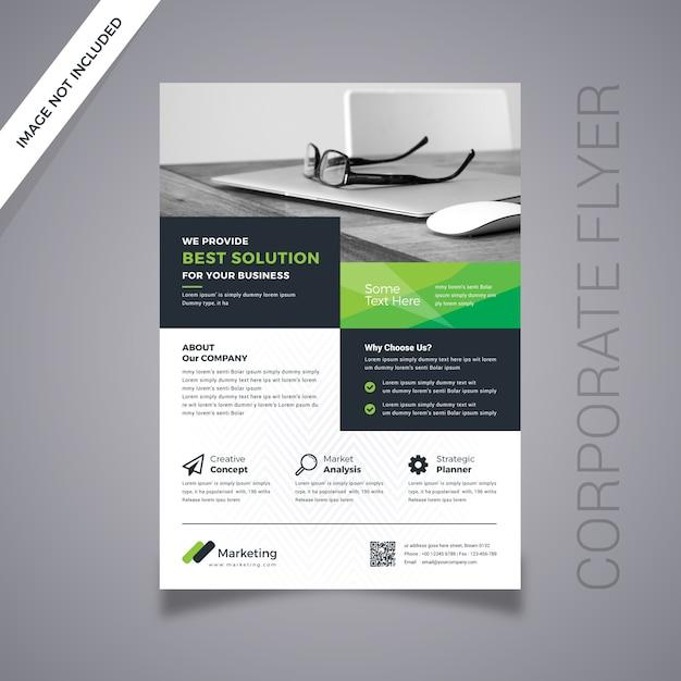 Diseño de flyer digital Vector Premium