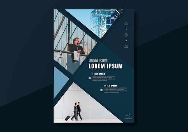 Diseño de folleto de negocios vector gratuito